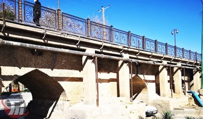 بازسازی طاق پل «گپ» در خرمآباد