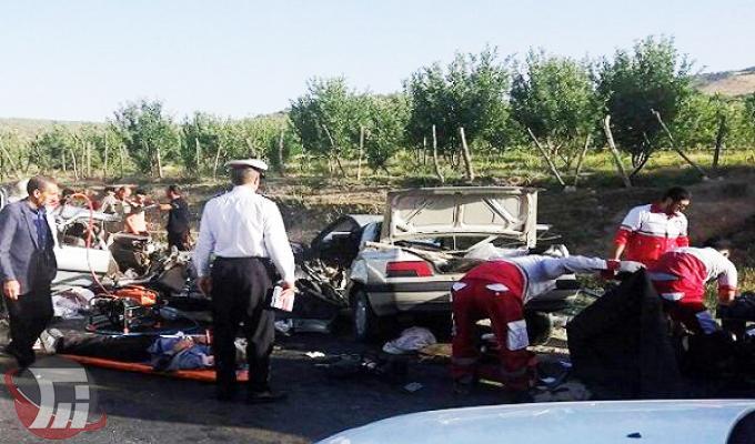 تصادف خونین در جاده خرمآباد - الشتر ۵ کشته و ۶ زخمی بر جای گذاشت