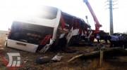 جزییات حادثه واژگونی اتوبوس حامل خبرنگاران در نقده