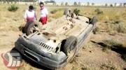 واژگونی خودرو پژو در جاده پلدختر ـ اندیمشک با ۲ کشته